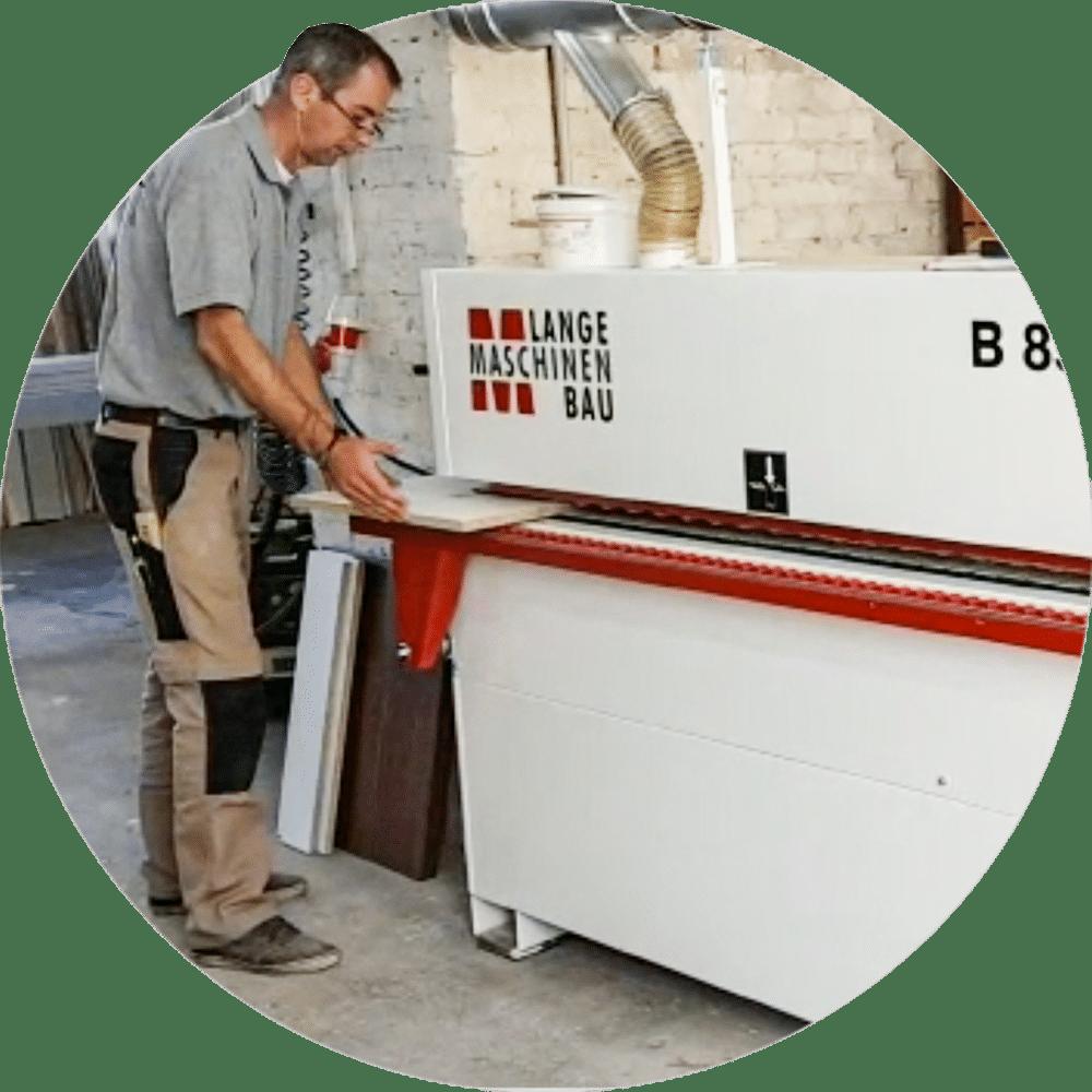 Kantenanleimmaschinen B85KFE der Tischlerei Rotter