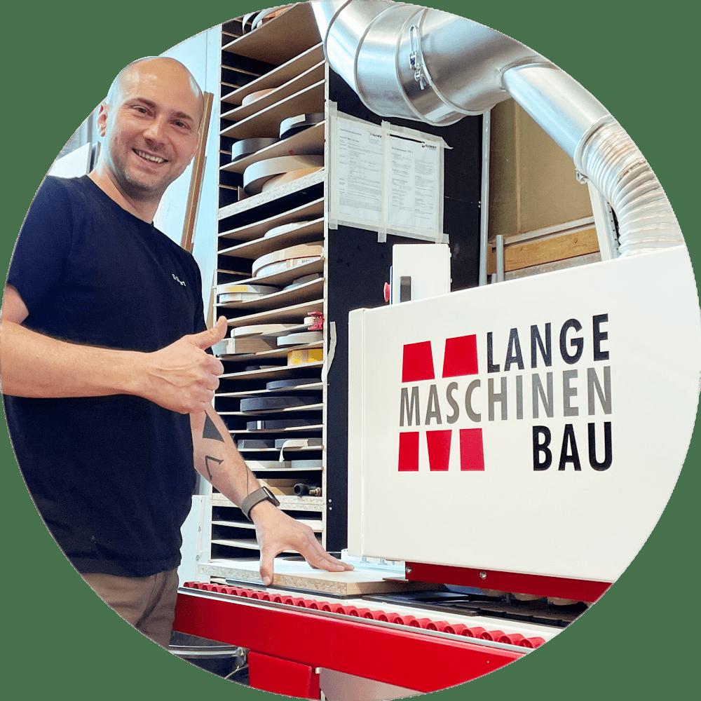 Kantenanleimmaschinen B85KFE der SCHREINEREI SPARTÀ